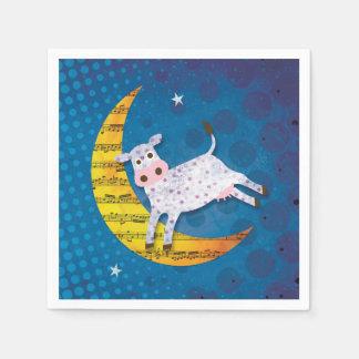 月の童謡に跳ばれる民芸牛 スタンダードカクテルナプキン