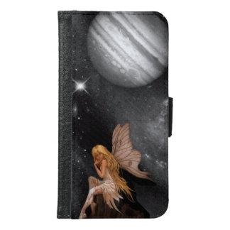 月の背景を持つ妖精 GALAXY S6 ウォレットケース
