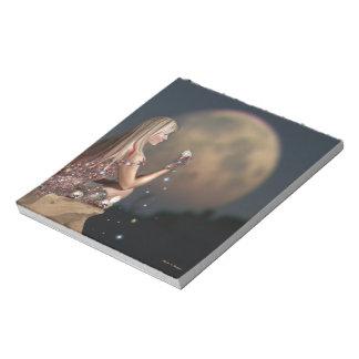 月の花のノート ノートパッド