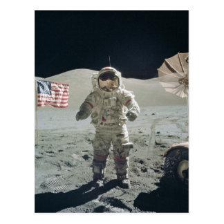 月の郵便はがきの人 ポストカード