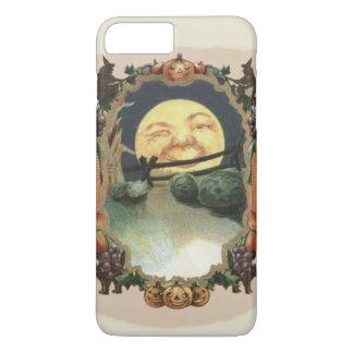 月の魔法使いの黒猫ハロウィーンのカボチャのちょうちんの人 iPhone 8 PLUS/7 PLUSケース