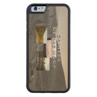 月のABHの噴火口 CarvedメープルiPhone 6バンパーケース