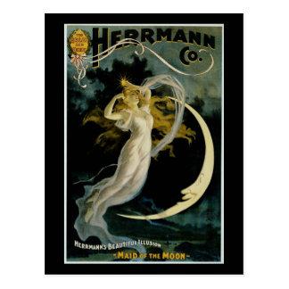 月のHerrmannの~の女中 ポストカード