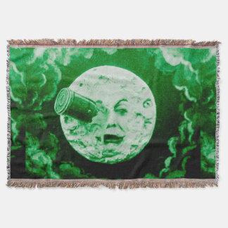 月のLe VoyageのdansのlaのLuneのヴィンテージへの旅行 スローブランケット