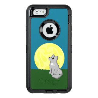 月のOtterboxの場合を持つかわいくだらしないオオカミ オッターボックスディフェンダーiPhoneケース