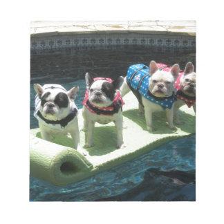 月のPiedsのプールの浮遊物 ノートパッド