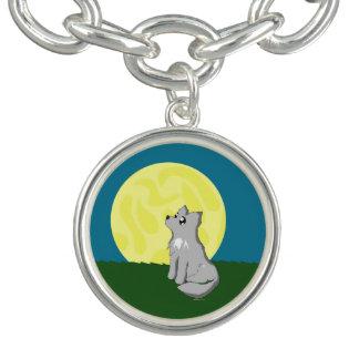 月を持つかわいくだらしないオオカミ ブレス