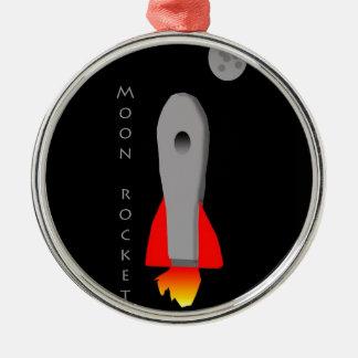 月ロケット メタルオーナメント