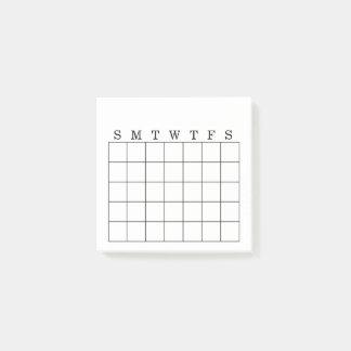 月例カレンダーまたは習慣の追跡者のポスト・イット ポストイット