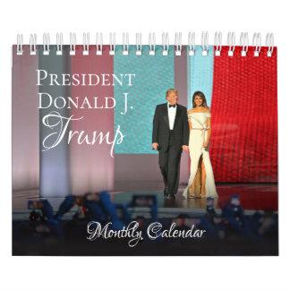 月例ドナルド・トランプ大統領の小さい2018カレンダー カレンダー