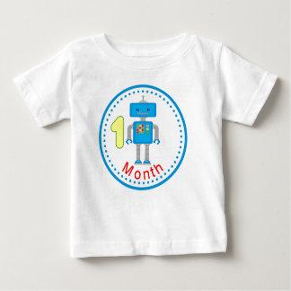 月例ベビーのワイシャツの青いロボットデザイン ベビーTシャツ
