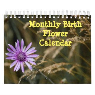月例誕生の花 カレンダー