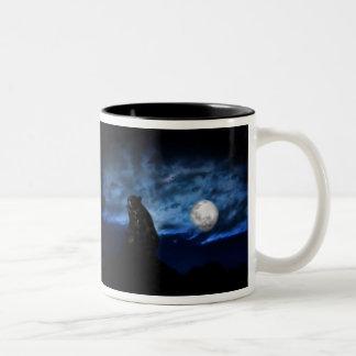 月光によるツキノワグマ ツートーンマグカップ