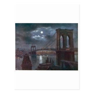 月光によるブルックリン橋 ポストカード