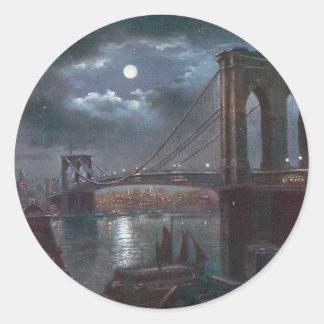 月光によるブルックリン橋 ラウンドシール