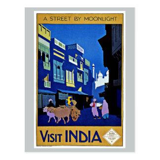 月光による訪問のインドアジアの通り ポストカード