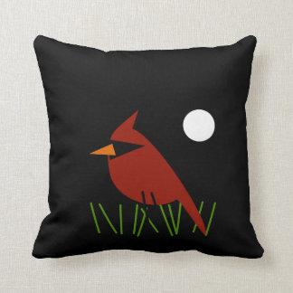 月光による赤い(鳥)ショウジョウコウカンチョウ クッション