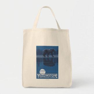 月光のくま-イエローストーン国立公園 トートバッグ