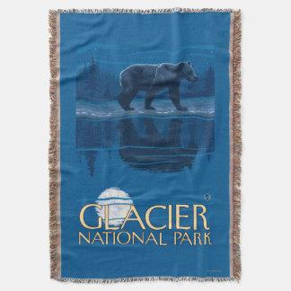 月光のくま-グレーシャー国立公園、MT スローブランケット