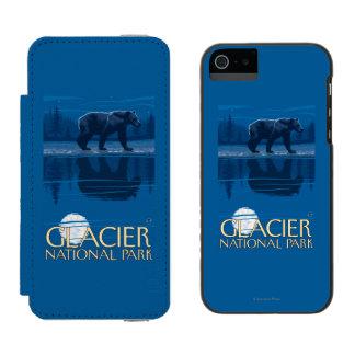 月光のくま-グレーシャー国立公園、MT INCIPIO WATSON™ iPhone 5 財布 ケース