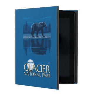 月光のくま-グレーシャー国立公園、MT iPad ケース