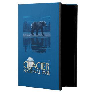 月光のくま-グレーシャー国立公園、MT iPad AIRケース