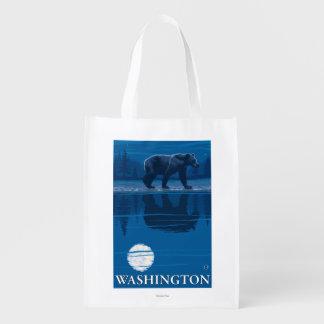 月光のくま-ワシントン州 エコバッグ