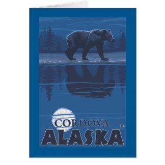 月光のくま- Cordova、アラスカ カード