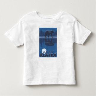 月光のくま- Skagway、アラスカ トドラーTシャツ