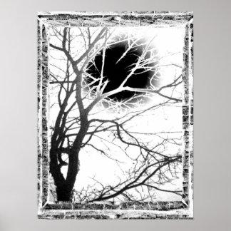 月光のシルエット ポスター