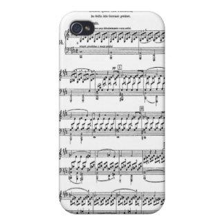 月光のソナタの楽譜のiphone 4ケース iPhone 4/4S cover