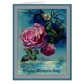 月光のバラBの母の日の大きい挨拶状 ビッググリーティーングカード