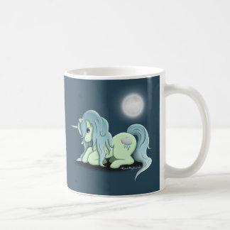 月光のユニコーンのクラシックなマグのコップ コーヒーマグカップ