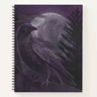 月光のワタリガラスの螺線形ノート ノートブック
