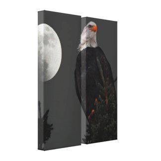 月光の二重パネルのキャンバスによる白頭鷲 キャンバスプリント