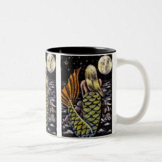 月光の人魚のマグ ツートーンマグカップ
