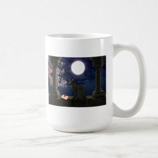 月光の子猫 コーヒーマグカップ