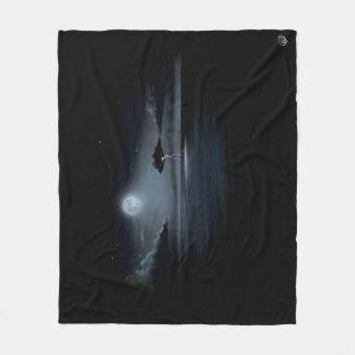 月光の嵐-フリースブランケット(媒体) フリースブランケット