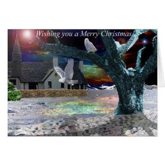 月光の影-クリスマスカード カード