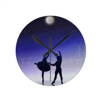 月光の時計のバレエ ラウンド壁時計
