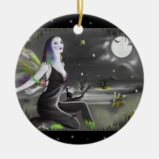 月光の歌手の妖精 セラミックオーナメント
