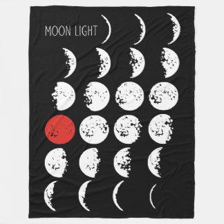 月光の白及び赤 + あなたのアイディア フリースブランケット