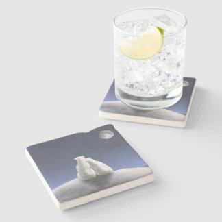 月光の石のコースターによる白くま ストーンコースター