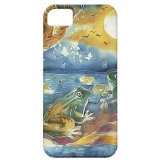 月光の絵画のカエル iPhone 5 カバー