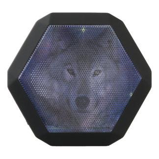 月光の美しいオオカミ ブラックBluetoothスピーカー