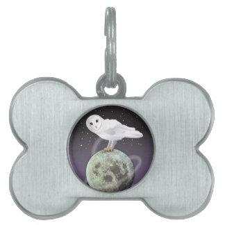 月光のSnowyのフクロウ ペットネームタグ
