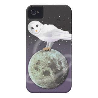 月光のSnowyのフクロウ Case-Mate iPhone 4 ケース