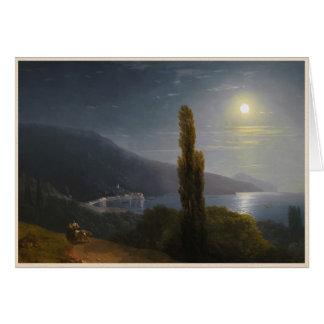 月光イヴァンAivazovskyのクリミアの海岸 カード