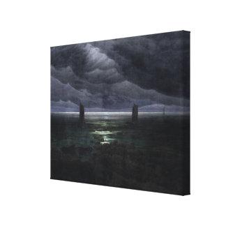 月光1835-36年の海海岸 キャンバスプリント
