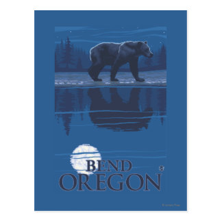 月光-くねり、オレゴンのくま ポストカード